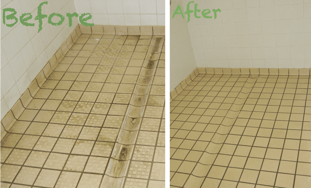 Tile Grout Cleaning - before & after